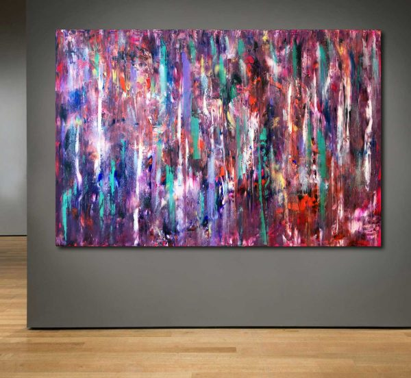 Temporal Embrace - Abstract Expressionism - by Estelle Asmodelle