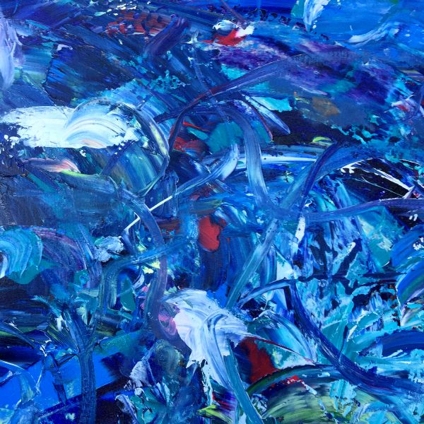 Garden of the Hesperides - Abstract Expressionism by Estelle Asmodelle