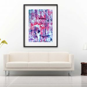 Pink Vértice - Abstract Expressionism by Estelle Asmodelle