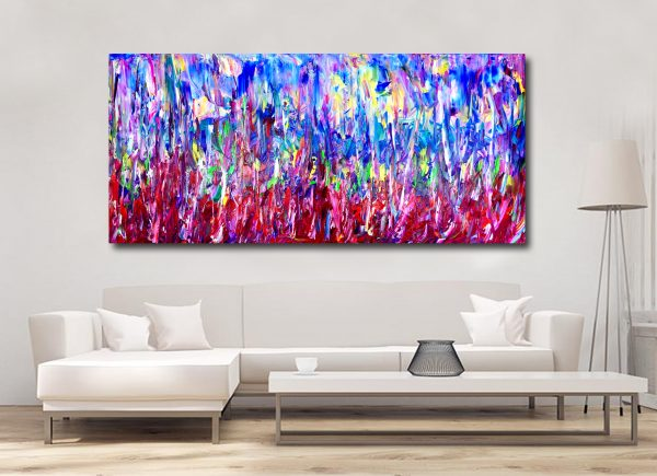 Forest of Illusion - Abstract Expressionism by Estelle Asmodelle