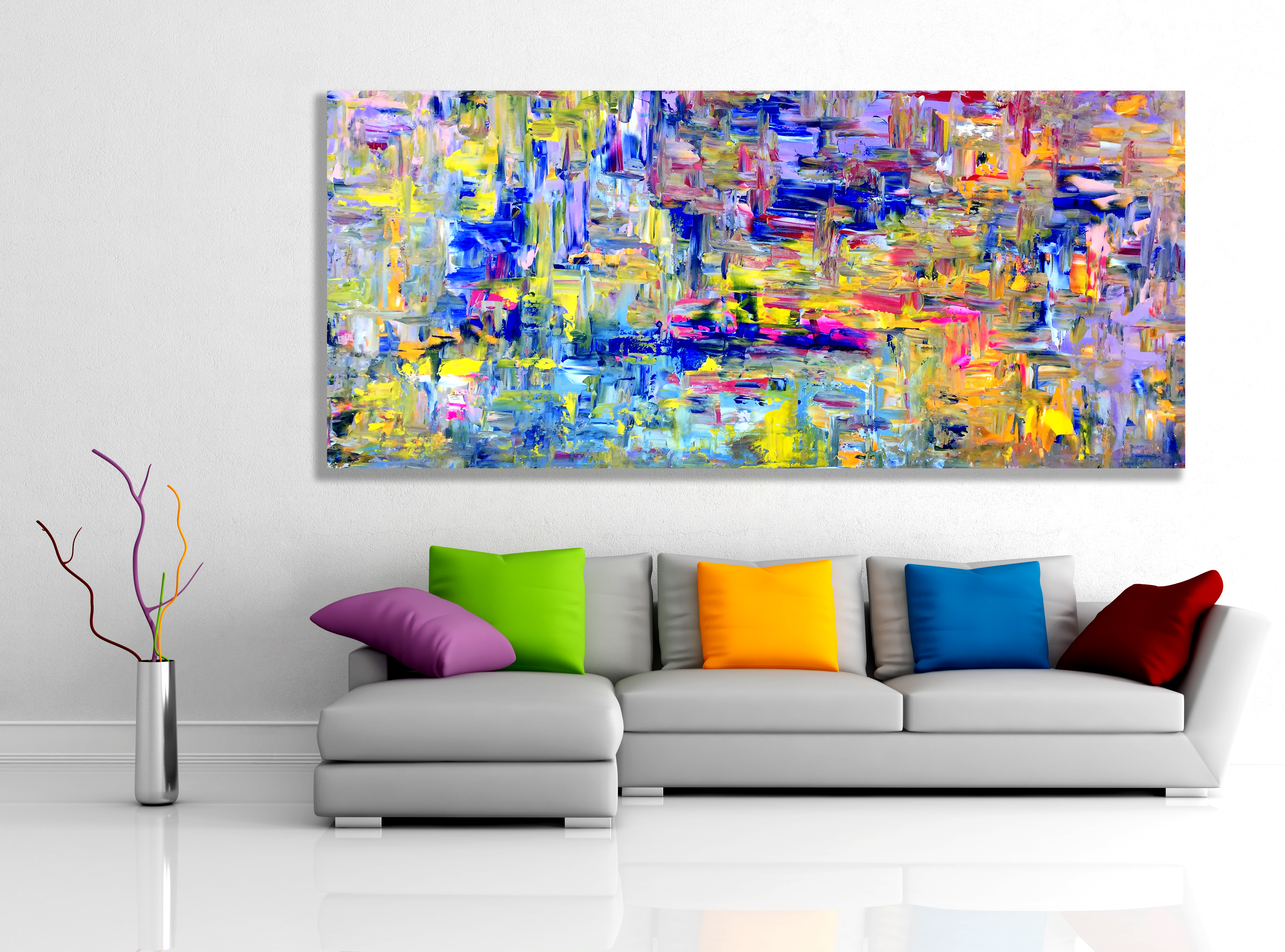 Future Dreaming - Abstract Expressionism by Estelle Asmodelle