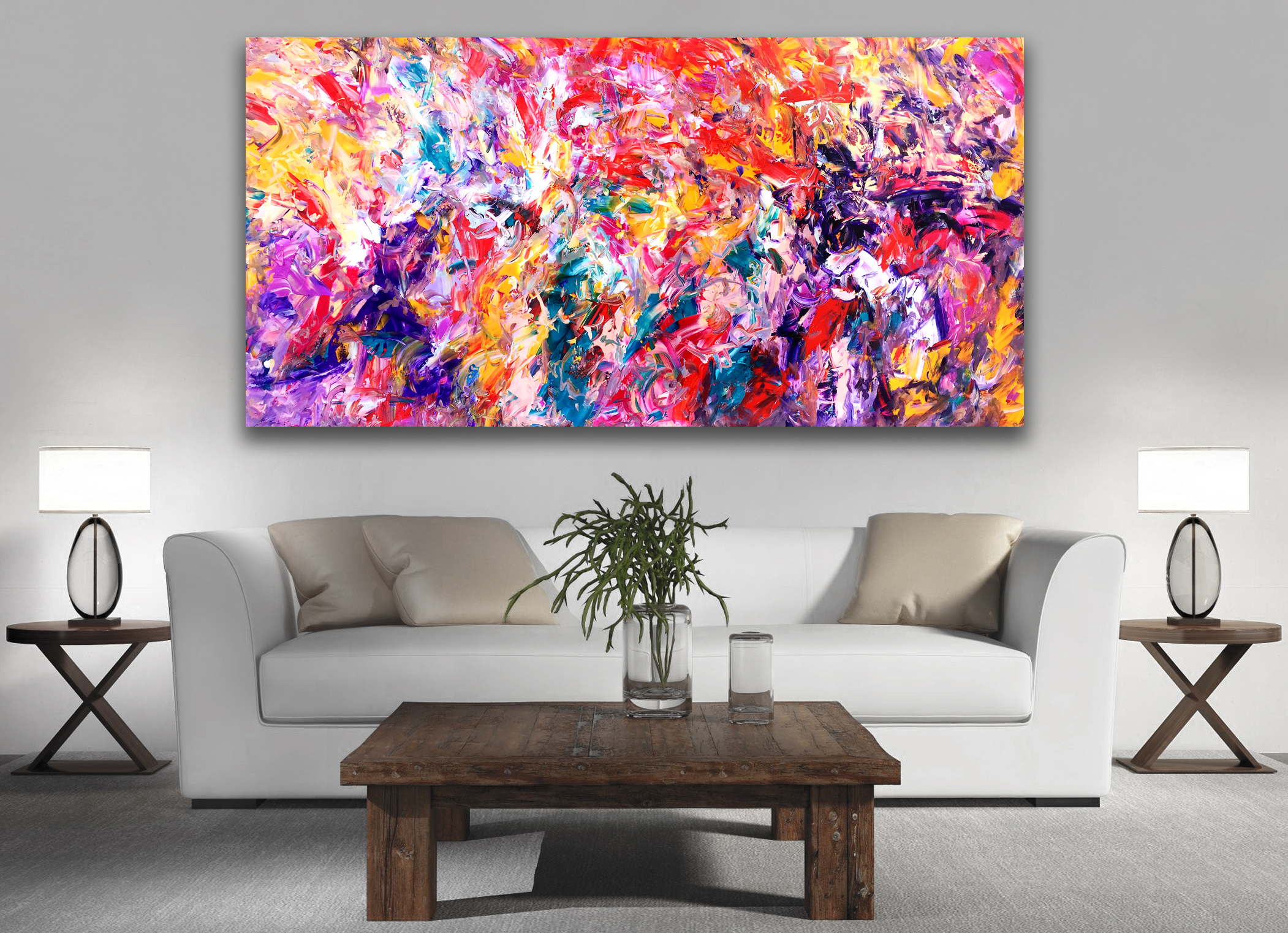 Intangible - Abstract Expressionism by Estelle Asmodelle