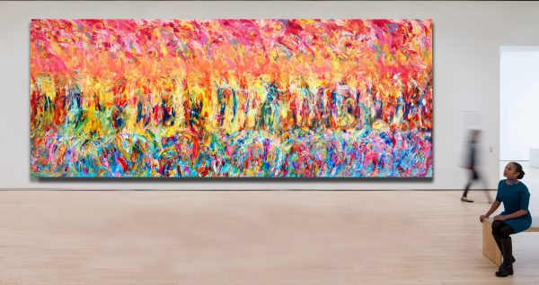 The Manang - Abstract Expressionism - by Estelle Asmodelle
