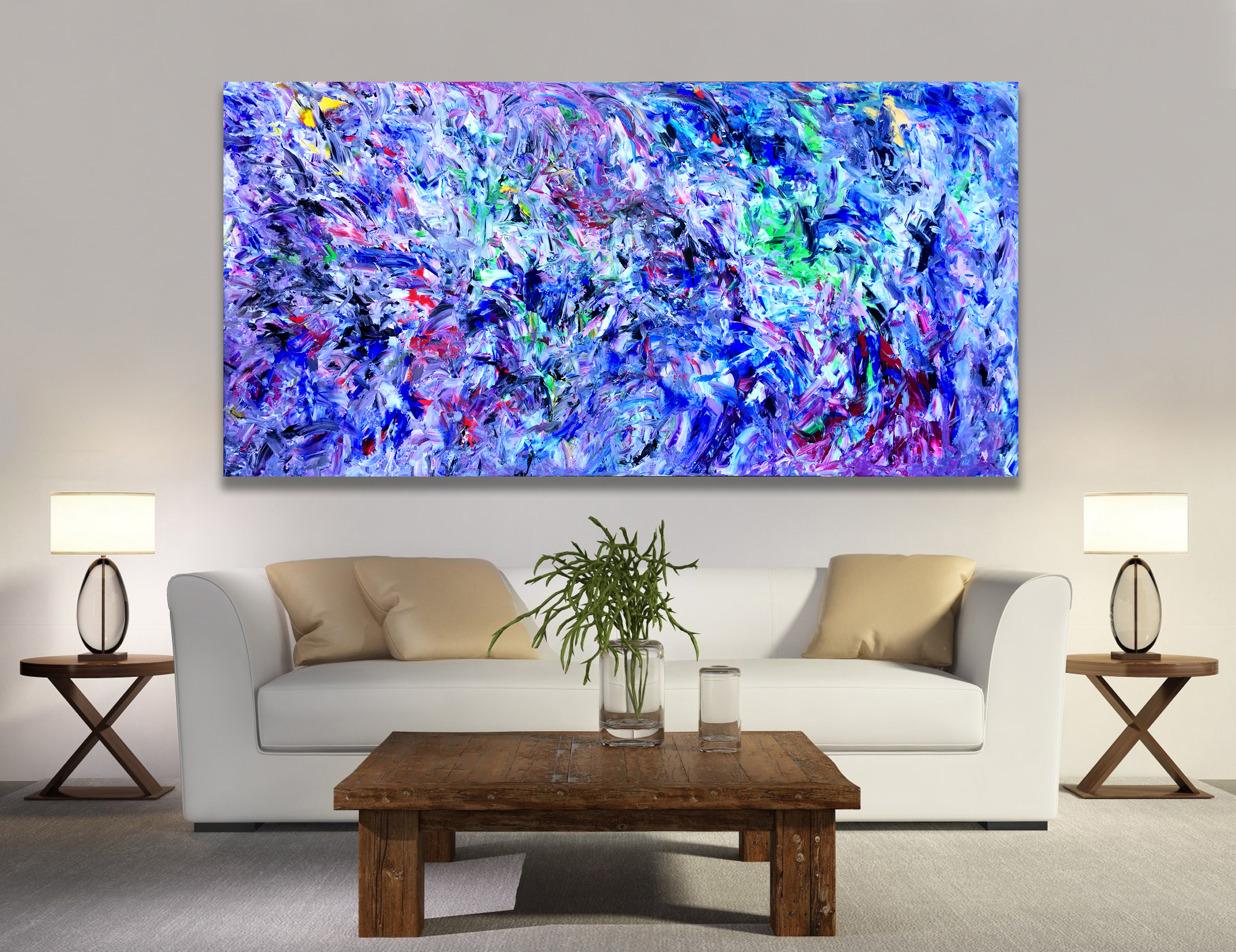 Untitled 65 - Abstract Expressionism by Estelle Asmodelle