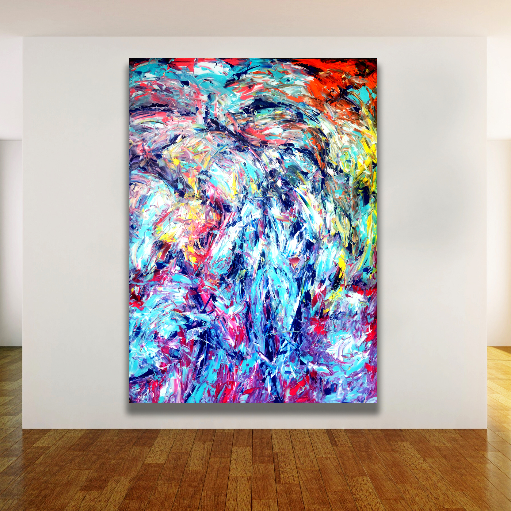 Gilgamesh king of Uruk - Abstract Expressionism by Estelle Asmodelle